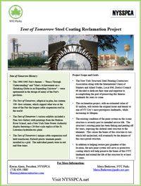 Tent of Tomorrow Steel Coating Reclamation